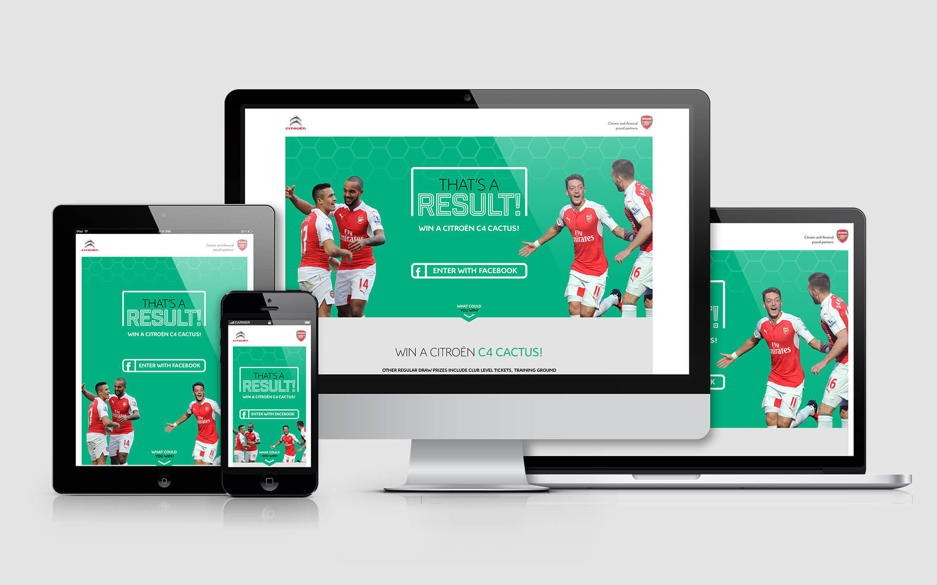 Arsenal competition landing page