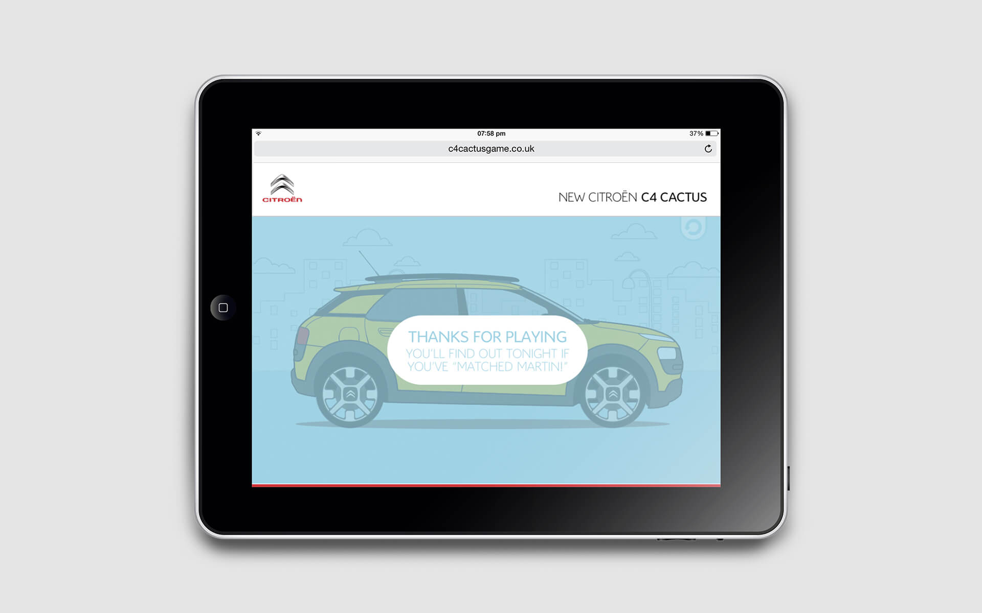Citroen C4 Cactus Launch game