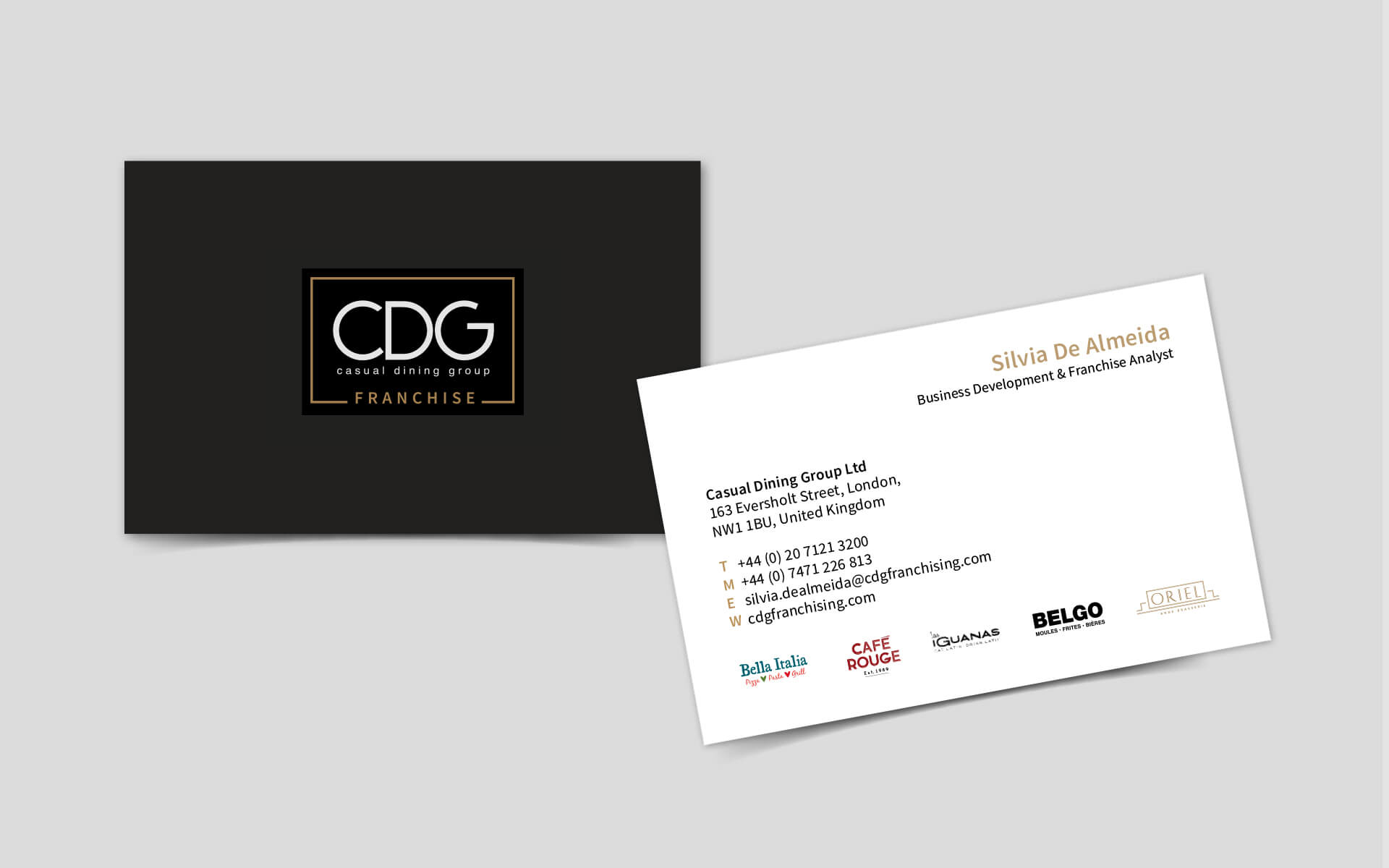 CDG franchise business card