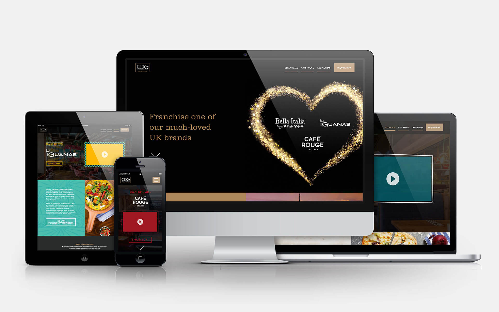 CDG franchise website