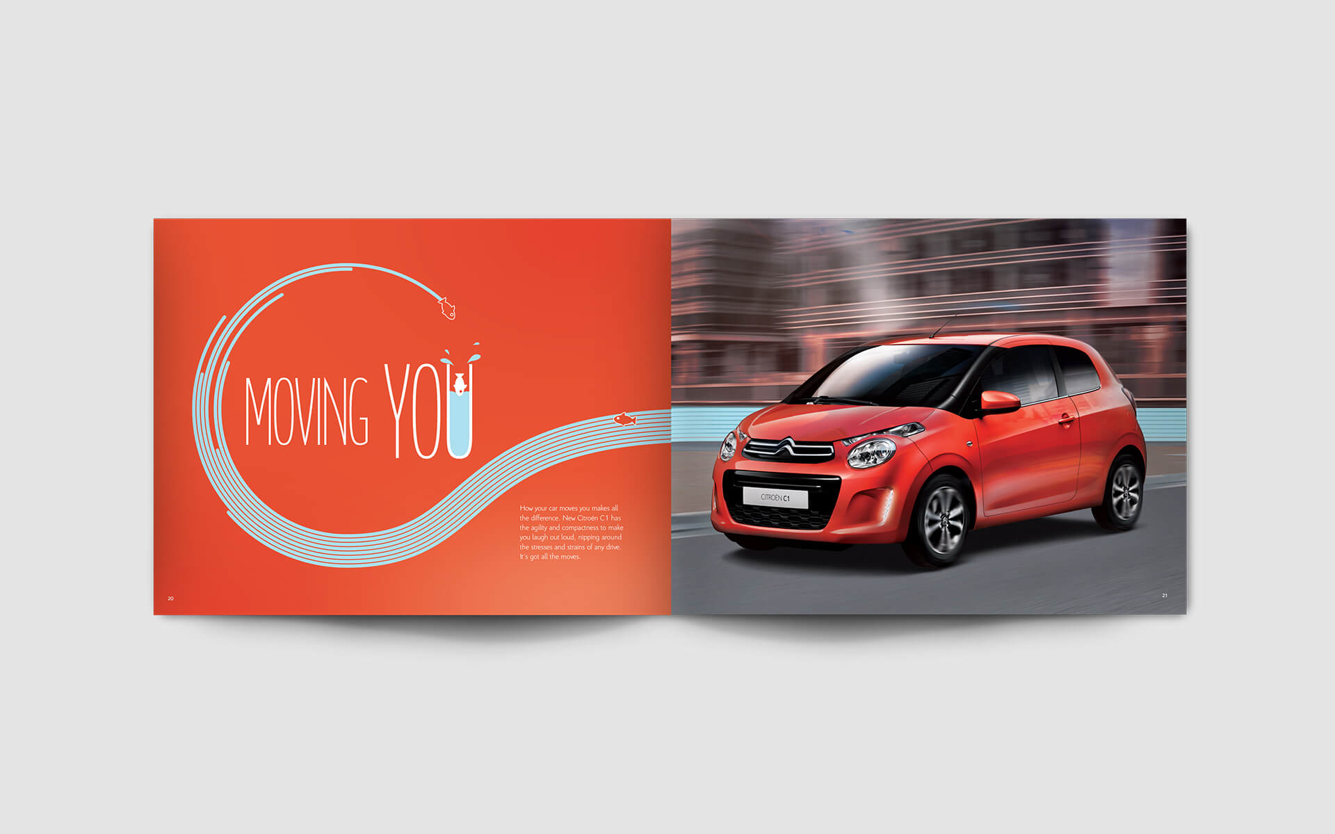 Citroen C1 brochure spread