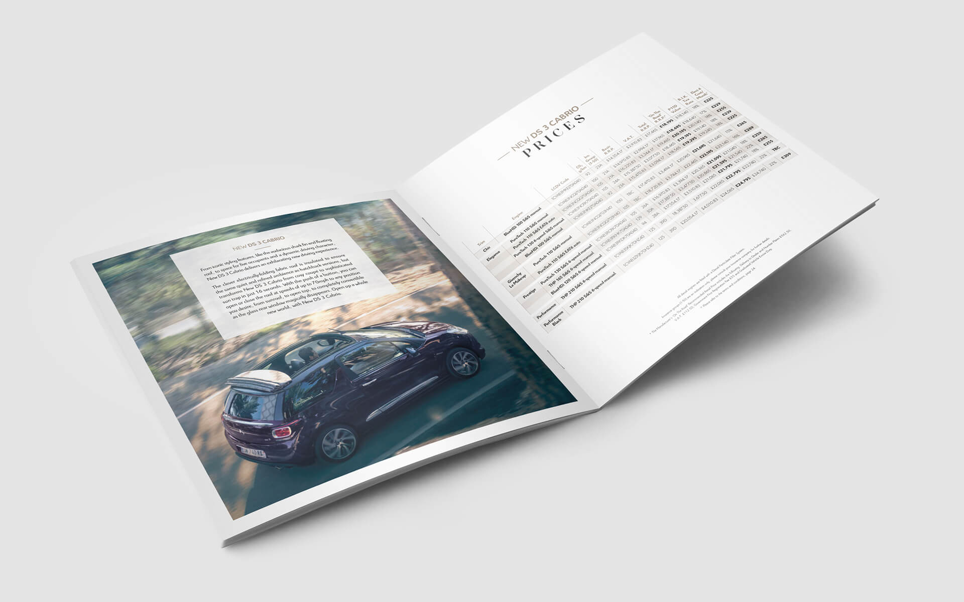 DS 3 cabrio Price and Spec Guide