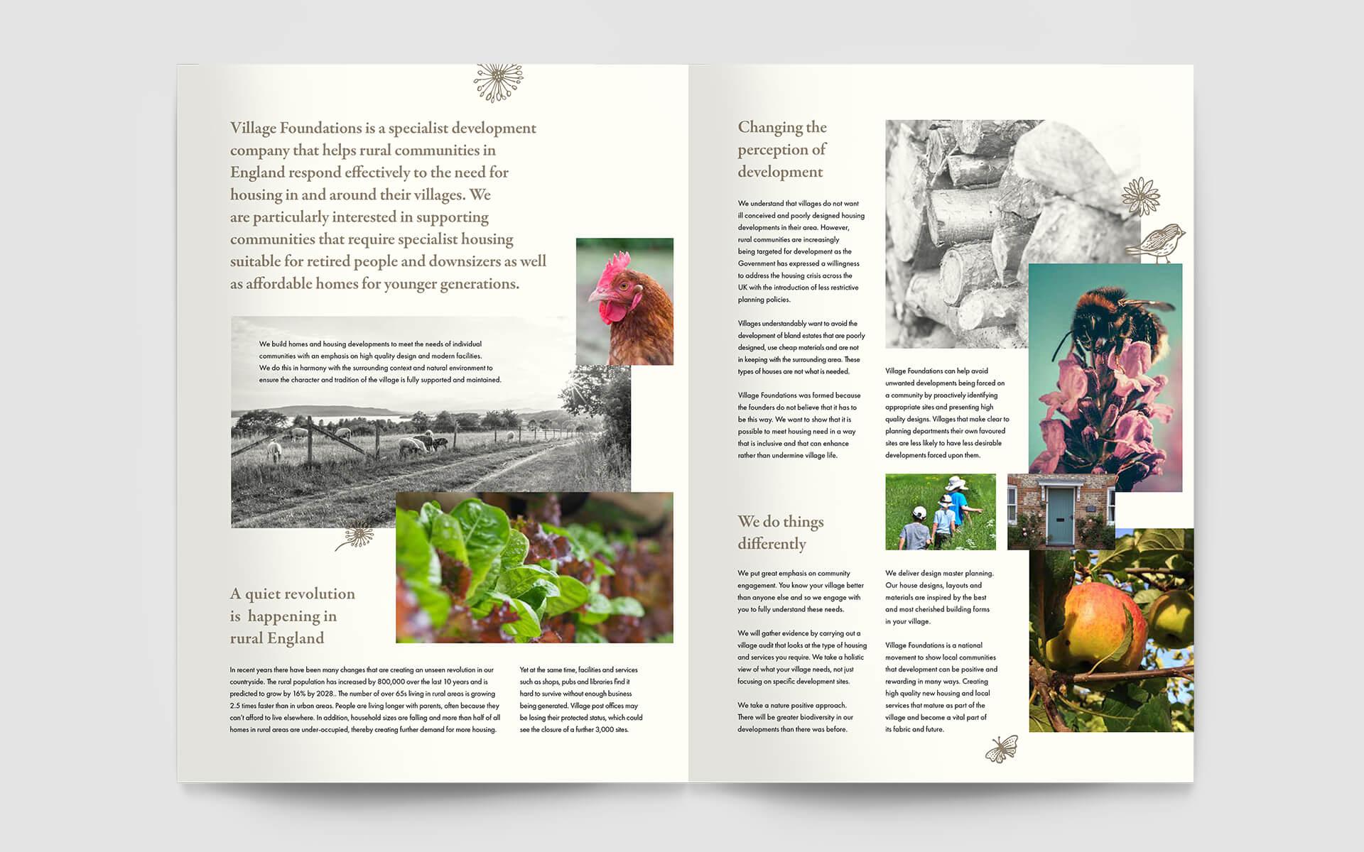 Village Foundations brochure spread