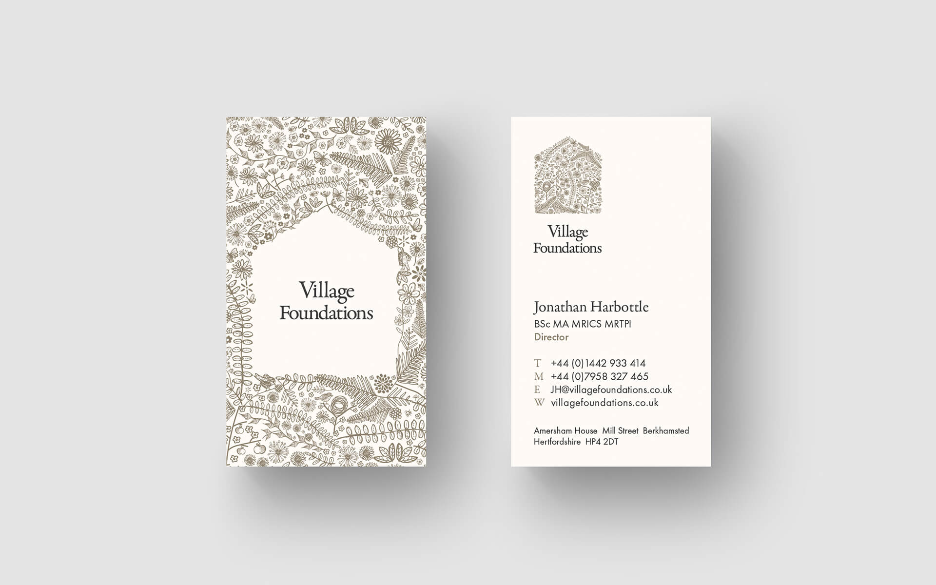 Village Foundations businesscards